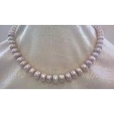 Perlový náhrdelník jezerní levandulové perly 13mm YY181