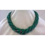 Náhrdelník smaragdy a rubíny DL024