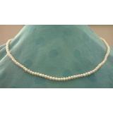Perlový náhrdelník bílé jezerní perly EC045