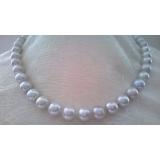 Perlový náhrdelník bílé jezerní perly 11mm NJ11005