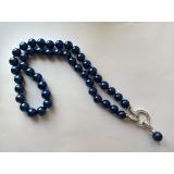 Perlový náhrdelník jezerní modré perly 10mm NJ11314