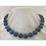 Náhrdelník modrý korál 12mm NJ5207