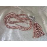 Perlový náhrdelník jezerní levandulové perly YY202