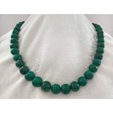Náhrdelník zelený přírodní smaragd 12mm DL072