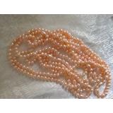 Perlový náhrdelník růžové jezerní perly 11mm NJ9837