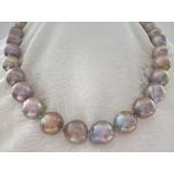Perlový náhrdelník jezerní obláčkové perly WN018