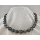 Perlový náhrdelník mořské tahiti perly 11mm ES062