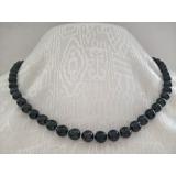 Perlový náhrdelník černé mořské akoya perly 7mm ES068