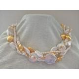 Perlový náhrdelník bílé jezerní perly YY214