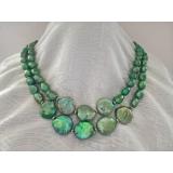 Perlový náhrdelník zelené jezerní perly YY215
