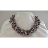 Perlový náhrdelník jezerní barevné reborn keshi perly NB325
