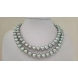 Perlový náhrdelník šedé jezerní perly 11mm NB327