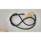 Náhrdelník černý broušený spinel ES078