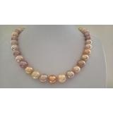 Perlový náhrdelník barevné edison jezerní perly 12mm ES087