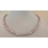 Perlový náhrdelník levandulové jezerní perly 9mm NJ12200