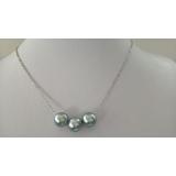 Perlový náhrdelník mořské tahiti perly na řetízku ES095