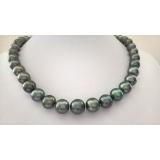 Perlový náhrdelník pravé mořské south sea tahiti perly 12mm NJ9272