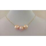 Perlový náhrdelník duhové jezerní obláčkové perly 11mm ES120