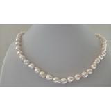 Perlový náhrdelník mořské bílé perly akoya 7mm ES048a