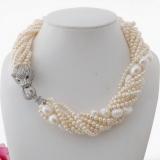 Perlový náhrdelník jezerní bílé perly YY253