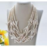 Perlový náhrdelník jezerní bílé perly YY264