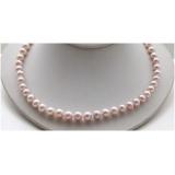 Perlový náhrdelník jezerní levandulové perly 9mm NJ9534
