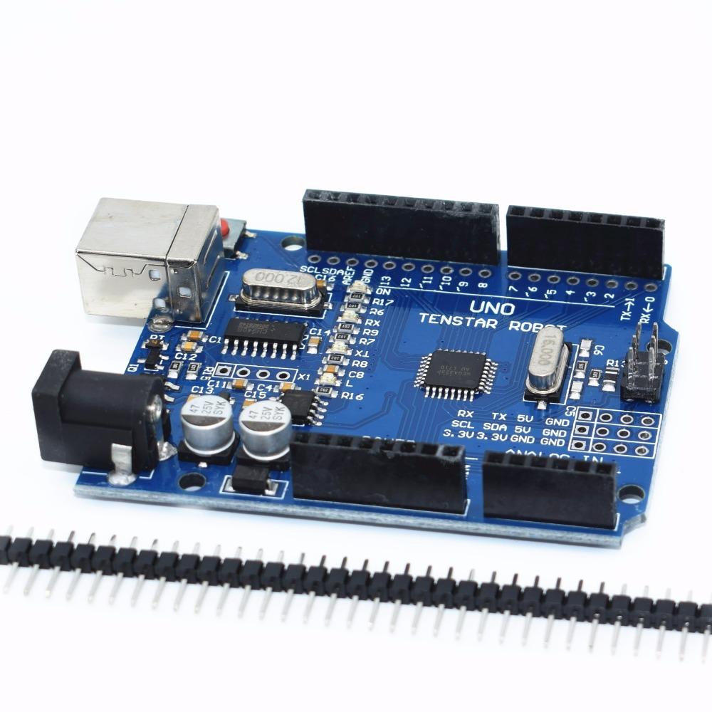 Jedna sada TENSTAR ROBOT UNO R3 CH340G + MEGA328P Chip 16Mhz
