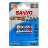 Sanyo Akumulátory R03 NiMH 1000 mAh, blistr 2ks