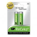 Baterie GP NiMH ReCyko+ , AA, 1.2V, 2100mAh, tužka, 2 back