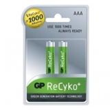 Baterie GP NiMH ReCyko+ , AAA, 1.2V, 850mAh, mikrotužka, 2 pack