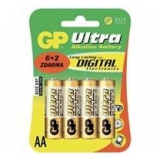 Baterie GP Ultra Alkaline AA R6A, 1.5V, tužka 8 pack