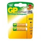 Baterie GP Ekopower NiMH, AAA, 1.2V, 600mAh, mikrotužka, 2 pack