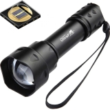UltraFire Outdoor UF-T20 Cree IR 850nm 940nm Luz Night Vision Zoomable LED svítilna Light Hunting Torch