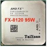 AMD FX-Series FX-8120 FX 8120 3.1 GHz Eight-Core CPU Processor 95W FD8120WMW8KGU Socket AM3+