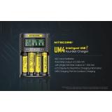NITECORE UM4 LCD inteligentní nabíječka baterií pro Li-ion / IMR / INR / ICR / LiFePO4 18650 14500 26650 AA 3.7 Baterie 1,2 V 1,5 V D4