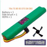 HEPA Filter + boční kartáč + Baterie 4500mAh 12V Ni-MH čistící baterie pro Neato BotVac 70e 75 80 85 D75 D85 Vysavače
