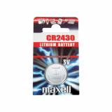 MAXELL knoflíková lithiová baterie CR2430, blistr 1 ks: