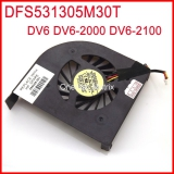 ORCECON DFS531305M30T F8R5 DC5V 0.5A Laptop CPU Cooler Fan For HP Pavilion DV6 DV6-2000 DV6-2100