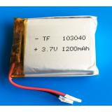 3.7V 1200mAh lipo polymerní lithiová dobíjecí baterie 103040 pro MP3 GPS navigátor DVD