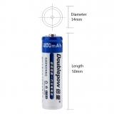 Doublepow LSD AA baterie 1200mAh 1,2V nabíjecí Ni-CD baterie s 1200 cyklem