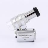 Nejnovější Fancy 60x kapesní mini kapesní mikroskop Loupe židle magnifier s LED světlo 92TV Měna Dectector Ferramentas