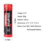 Akumulátor Li-Ion Original Ultrafire BRC 18650 protected na plusu 2600mAh