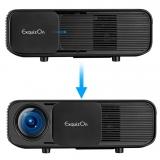 Exquizon CL760 3200 Lumen 1280 * 800 projektor Podpora video zvuku Procesor 1080P domácího kina HD s volným USB rozhraním HDMI LED TV
