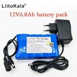 Liitokala přenosný vysoce dobíjecí lithium-iontový akumulátor kapacity DC 12V 12.6V 6800mah baterie CCTV Cam Monitor