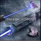 HORKÝ! AAA Nejsilnější vojenská svítilna Hořící laserová hořák 450nm 3000mw 3W Zaostřitelná modrá laserová ukazovátka Burn paper hunting