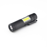 2017 Nová mini přenosná hliníková Q5 LED svítilna XPE & COB pracovní světlo svítilna Výkonné lampa lampy s baterkou 4 režimy Použijte 14500 nebo AA