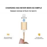 FLOVEME Magnetický USB kabel pro iPhone 5 6 7 Nabíjecí kabel Magnetický nabíjecí kabel pro Samsung Micro USB kabelový a magnetický adaptér