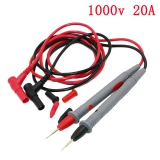 1 pár Univerzální zkušební sonda pro zkušební kolík pro digitální multimetr Testovací měřič hrotu s měřícím přístrojem Měřící přístroj s měřícím přístrojem Proudový vodič Penový kabel 20A