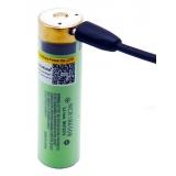 Akumulátor Panasonic USB-34B USB 18650 3.7V NCR18650B 3400 mAh Li-ion dobíjecí baterie microUSB s LED kontrolkou