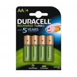 Baterie Duracell Stay Charged, HR6, AA, 2500mAh, nabíjecí, (Blistr 4ks)
